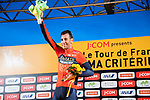 Vincenzo Nibali (ITA) Bahrain-Merida wins the Polka Dot Jersey at the end of the 2018 Saitama Criterium, Japan. 4th November 2018.<br /> Picture: ASO/Pauline Ballet | Cyclefile<br /> <br /> <br /> All photos usage must carry mandatory copyright credit (&copy; Cyclefile | ASO/Pauline Ballet)