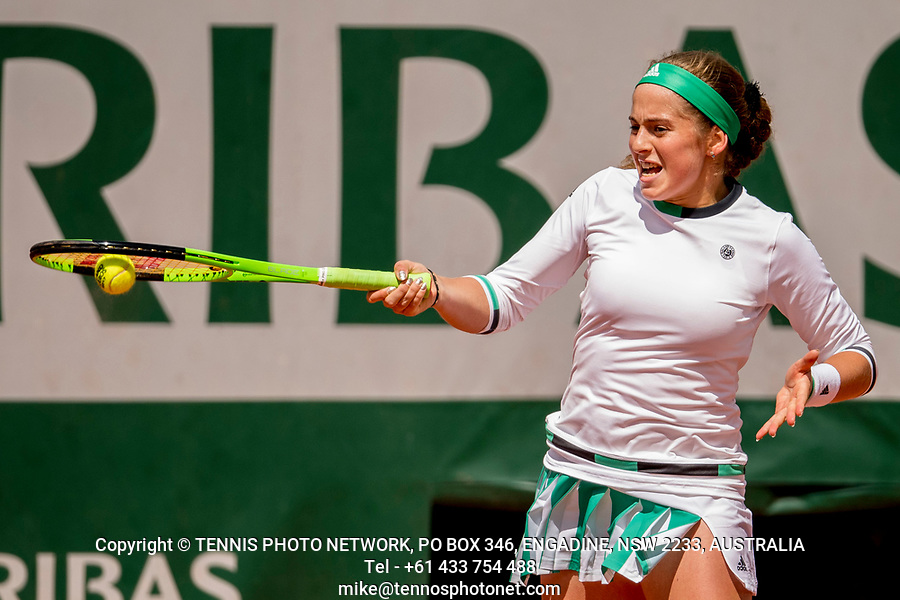 JELENA OSTAPENKO (LAT)<br /> <br /> TENNIS - FRENCH OPEN - ROLAND GARROS - ATP - WTA - ITF - GRAND SLAM - CHAMPIONSHIPS - PARIS - FRANCE - 2017  <br /> <br /> <br /> <br /> &copy; TENNIS PHOTO NETWORK