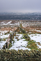 A view towards Holme Moss from the A635 Greenfield Road on Saddleworth Moor.
