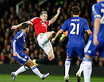 Bastian Schweinsteiger of Manchester United flies into a challenge to win the ball against Nemanja Matic of Chelsea - English Premier League - Manchester Utd vs Chelsea - Old Trafford Stadium - Manchester - England - 28th December 2015 - Picture Simon Bellis/Sportimage
