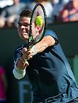 Milos Raonic (CAN) defeats Rafael Nadal (ESP) 46 76(10) 75