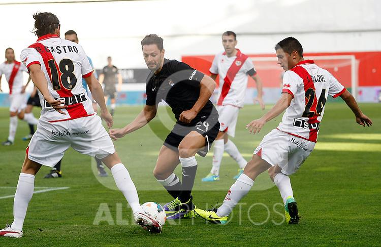 Partido de La Liga 2013/14. Rayo Vallecano V Real Sociedad en el Estadio de Vallecas, Madrid. Octubre 05, 2013. (ALTERPHOTOS/Victor Blanco)
