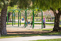 Mom's with their Children at Ralph B. Clark Regional Park in Buena Park