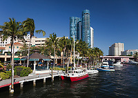 Riverwalk, Fort Lauderdale, Florida, USA.