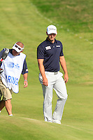 Paul Waring (ENG) on the 9th during Round 2 of the KLM Open at Kennemer Golf &amp; Country Club on Friday 12th September 2014.<br /> Picture:  Thos Caffrey / www.golffile