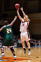SAN ANTONIO, TX - FEBRUARY 14, 2008: The Southeastern Louisiana State University Lions vs. The University of Texas at San Antonio Roadrunners Women's Basketball at the UTSA Convocation Center. (Photo by Jeff Huehn)
