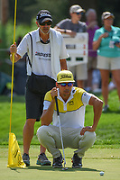Rafael Cabrera Bello (ESP) lines up his putt on 15 during 2nd round of the World Golf Championships - Bridgestone Invitational, at the Firestone Country Club, Akron, Ohio. 8/3/2018.<br /> Picture: Golffile | Ken Murray<br /> <br /> <br /> All photo usage must carry mandatory copyright credit (© Golffile | Ken Murray)