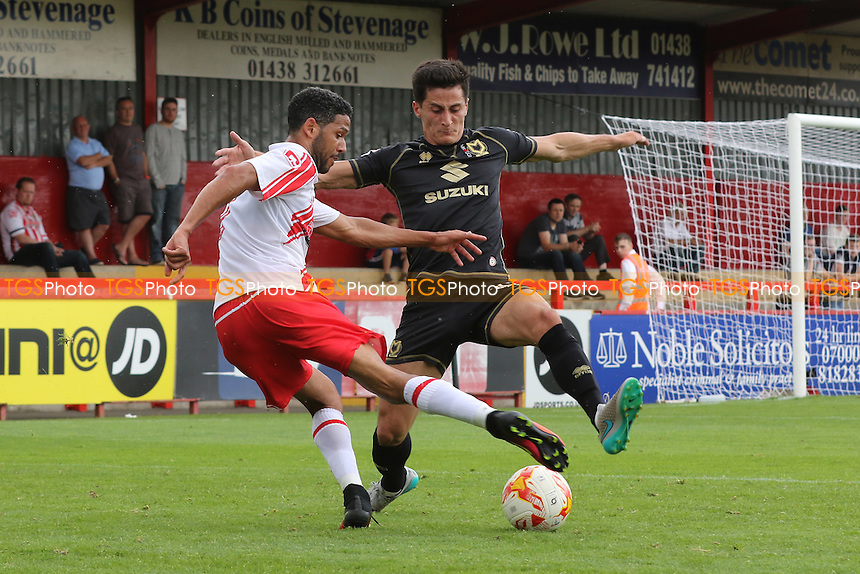 Jobi McAnuff of Stevenage in action during Stevenage vs MK Dons, Friendly Match Football at the Lamex Stadium on 30th July 2016