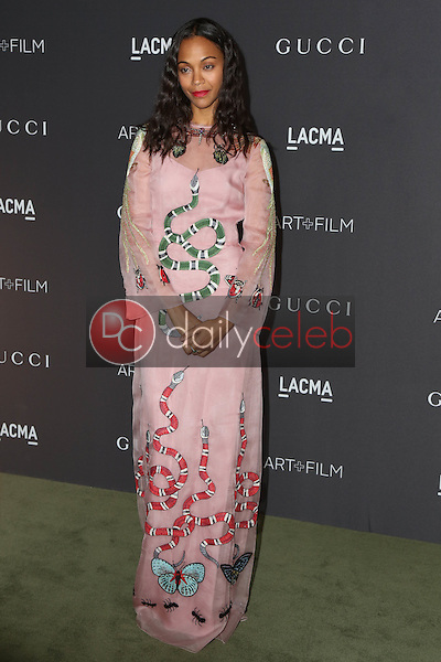 Zoe Saldana<br /> at the 2016 LACMA Art +  Film Gala, LACMA, Los Angeles, CA 10-29-16<br /> David Edwards/DailyCeleb.com 818-249-4998