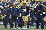Annapolis, MD - October 8, 2016: Navy Midshipmen head coach Ken Niumatalolo during game between Houston and Navy at  Navy-Marine Corps Memorial Stadium in Annapolis, MD.   (Photo by Elliott Brown/Media Images International)