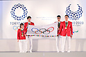 (L-R) Hiromi Miyake, Maharu Yoshimura, Hirooki Arai, Takeshi Matsuda, <br /> SEPTEMBER 21, 2016 : <br /> Olympic and Paralympic flags raising ceremony <br /> in Tokyo, Japan.  <br /> (Photo by Yohei Osada/AFLO SPORT)