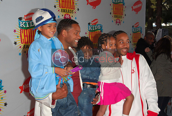 Will Smith and his sons with Ludacris and his daughter<br />