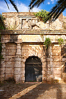 The Winged Venetian Lion over a gate to the Neo Frourio  [ ??? ??????? ] Corfu City, Greek Ionian Islands