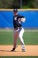 New York Yankees Kyle Holder (67) during practice before a minor league Spring Training game against the Toronto Blue Jays on March 22, 2016 at Englebert Complex in Dunedin, Florida.  (Mike Janes/Four Seam Images)
