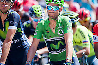 Castellon, SPAIN - SEPTEMBER 7: Alejandro Valverde during LA Vuelta 2016 on September 7, 2016 in Castellon, Spain