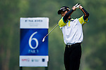 Zihao Zhang of China tees off during the 2011 Faldo Series Asia Grand Final on the Faldo Course at Mission Hills Golf Club in Shenzhen, China. Photo by Raf Sanchez / Faldo Series
