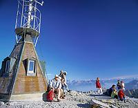 Schweiz, Kanton Appenzell Innerrhoden, Appenzellerland: auf dem Saentis | Switzerland, Canton Appenzell Innerrhoden, Appenzellerland: summit Saentis