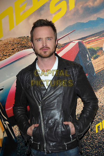 LONDON, UK - FEBRUARY 26 - Aaron Paul attends a fan screening of their new film, Need For Speed, at the Odeon West End, Leicester Square, London on Wednesday, February 26, 2014. <br /> CAP/CJ<br /> &copy;Chris Joseph/Capital Pictures