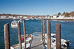 Winter view in Cape Porpoise, ME, USA