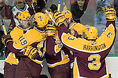 Ryan Potulny, Danny Irmen, Ryan Stoa, PJ Atherton, Chris Harrington - The University of Minnesota Golden Gophers defeated the University of North Dakota Fighting Sioux 4-3 on Friday, December 9, 2005, at Ralph Engelstad Arena in Grand Forks, North Dakota.