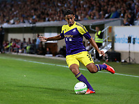 Thursday 08 August 2013<br /> Pictured: Neil Taylor of Swansea<br /> Re: Malmo FF v Swansea City FC, UEFA Europa League 3rd Qualifying Round, Second Leg, at the Swedbank Stadium, Malmo, Sweden.
