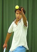 10-3-06, Netherlands, tennis, Rotterdam, National indoor junior tennis championchips, Marlon van Ingen