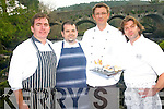 Kenmare's top chefs will give a preview of the best dishes and produce the town has with the launch 'A Taste of Kenmare' in Sheen Falls this month which will be a preview of the food festival due to take place this July. .L-R Martin Hallissey (Packies), Bruce Mulcahy (The Wild Garlic and The Park Hotel), Heiko Riebandt (Executive Chef Sheen Falls Hotel) and Benoir Lorge (Lorge Chocolatier)