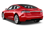 Car pictures of rear three quarter view of a 2017 Tesla Model S 100D 5 Door Hatchback angular rear