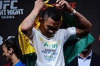 GOIÂNIA, GO, 29.05.2015 – UFC-GOIÂNIA – Francimar Bodão durante pesagem para o UFC Goiânia  no Goiânia Arena em Goiânia na tarde desta sexta-feira, 29. (Foto: Ricardo Botelho / Brazil Photo Press)