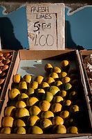 Limes are on display in a stall in Toronto Kensington Market April 19, 2010.  With eclectic shops, cafes and other attractions, Kensington Market is a distinctive multicultural neighbourhood in downtown Toronto, Ontario.