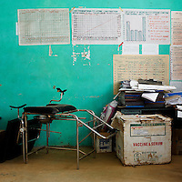 """A view of various equipment in the main office of a health center in Konso, Southern Ethiopia on August 31, 2010...Trachoma (Ancient Greek: """"rough eye"""") is an infectious eye disease, and the leading cause of the world's infectious blindness. Globally, 84 million people suffer from active infection and nearly 8 million people are visually impaired as a result of this disease. Globally this disease results in considerable disability..Ethiopia carries the largest burden of trachoma infection--30%--in Africa.   .1.3 million Ethiopians (15 years and older) have trichiasis, the advanced stage of trachoma, and need immediate surgery. .Of children aged 1-9 years, over 9 million--40%--have an active trachoma infection;  in some Ethiopian districts, more than 80% of children have active trachoma. .( Source: WHO 2008 ).."""
