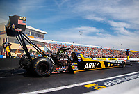 Sep 22, 2017; Mohnton, PA, USA; NHRA top fuel driver Tony Schumacher during the Dodge NHRA Nationals at Maple Grove Raceway. Mandatory Credit: Mark J. Rebilas-USA TODAY Sports