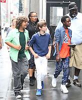 NEW YORK, NY - SEPTEMBER 1: Cast of Netflix's 'Stranger Things' seen arriving in the rain at SiriusXM studios in New York, New York on September 1, 2016.  Photo Credit: Rainmaker Photo/MediaPunch