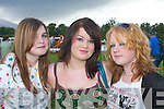 Roisin Farrell, Rachel Foy and Rebecca Hoy Kenmare having fun at the Killarney races on Monday.