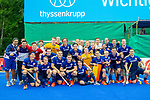 Krefeld, Germany, May 18: During the Final4 semi-final fieldhockey match between Rot-Weiss Koeln and Mannheimer HC on May 18, 2019 at Gerd-Wellen Hockeyanlage in Krefeld, Germany. (worldsportpics Copyright Dirk Markgraf) ***