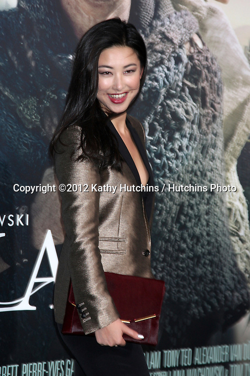 """LOS ANGELES - OCT 24:  Zhu Zhu arrives at the """"Cloud Atlas""""  Los Angeles Premiere  at Grauman's Chinese Theater on October 24, 2012 in Los Angeles, CA"""