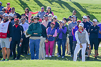 Haru Nomura (JPN) and the gallery reacts to her tight chip during playoff holes of  the Volunteers of America Texas Shootout Presented by JTBC, at the Las Colinas Country Club in Irving, Texas, USA. 4/30/2017.<br /> Picture: Golffile | Ken Murray<br /> <br /> <br /> All photo usage must carry mandatory copyright credit (&copy; Golffile | Ken Murray)