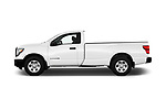 Car Driver side profile view of a 2017 Nissan Titan S-Single 2 Door Pick-up Side View