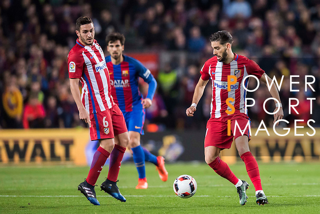 Yannick Ferreira Carrasco of Atletico de Madrid in action during their Copa del Rey 2016-17 Semi-final match between FC Barcelona and Atletico de Madrid at the Camp Nou on 07 February 2017 in Barcelona, Spain. Photo by Diego Gonzalez Souto / Power Sport Images