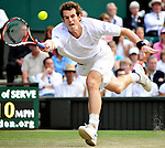 28TH JUNE 2008, WIMBLEDON TENNIS CHAMPIONSHIPS, THIRD ROUND, ANDY MURRAY PLAYING AGAINST TOMMY HASS OF GERMANY ON CENTRE COURT, ROB CASEY PHOTOGRAPHY.