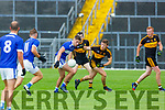 Kerry team mates Adrian Spillane Templenoe and Gavin White Dr Crokes tussle for the loose ball during their SFC clash in Fitzgerald Stadium on Friday evening