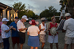 People wait in line for admission to a campaign rally with Republican Vice Presidential candidate  Rep. Paul Ryan (R-WI) on Saturday, August 18, 2012 in The Villages, FL.