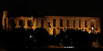 Domus Severiana Ruins at night Support Structures for Palace of Septimius Severus Palatine Hill Rome