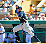 11 March 2009: New York Yankees' outfielder Johnny Damon in action during a Spring Training game against the Detroit Tigers at Joker Marchant Stadium in Lakeland, Florida. The Tigers defeated the Yankees 7-4 in the Grapefruit League matchup. Mandatory Photo Credit: Ed Wolfstein Photo