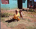 23/01/12. Lalibela, Ethiopia. Two children in a small town on the road from Bahir Dar to Lalibela. photocredit: Jane Hobson.