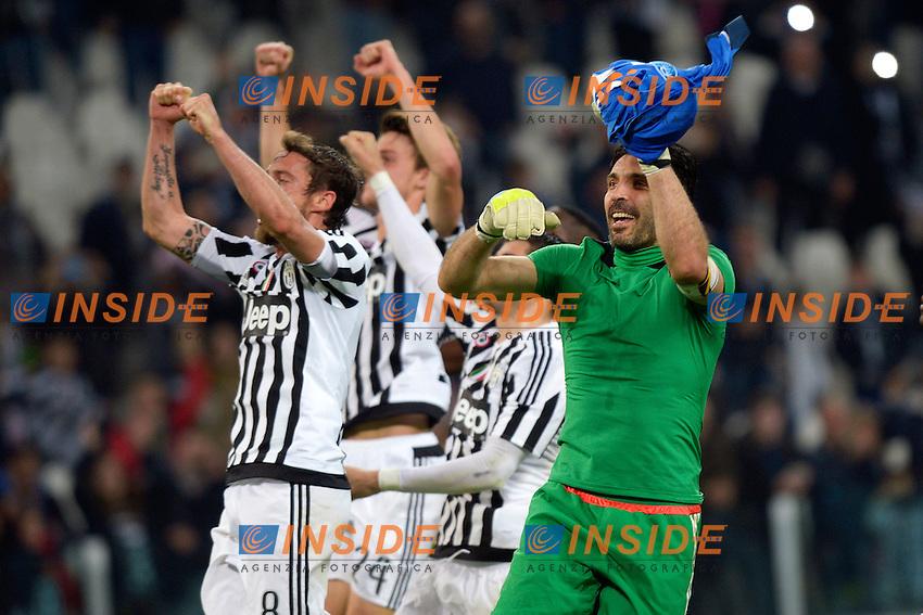 Gianluigi Buffon Juventus Esultanza celebration <br /> Torino 02-04-2016 Juventus Stadium Football Calcio Serie A 2015/2016 Juventus - Empoli. Foto Filippo Alfero / Insidefoto