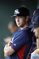 Boston Red Sox catcher Blake Swihart (80) during a spring training game against the Baltimore Orioles on March 24, 2014 at Ed Smith Stadium in Sarasota, Florida.  The game was called due to rain.  (Mike Janes/Four Seam Images)