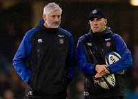 Bath Rugby's Head Coach Todd Blackadder with attack coach Girvan Dempsey<br /> <br /> Photographer Bob Bradford/CameraSport<br /> <br /> Heineken Champions Cup Pool 1 - Bath v Leinster - Saturday 8th December 2018 - The Recreation Ground - Bath<br /> <br /> World Copyright © 2018 CameraSport. All rights reserved. 43 Linden Ave. Countesthorpe. Leicester. England. LE8 5PG - Tel: +44 (0) 116 277 4147 - admin@camerasport.com - www.camerasport.com