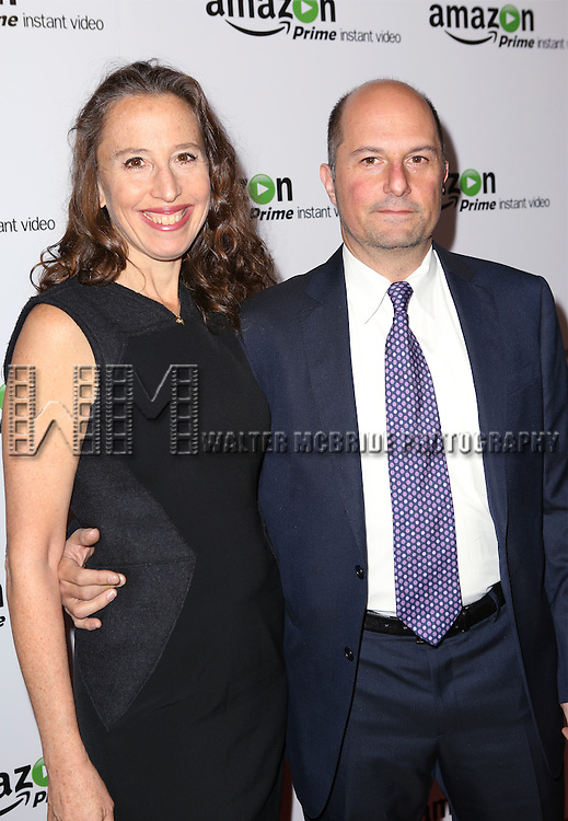 Caroline Baron and Anthony Weintraub attending the Amazon Red Carpet Premiere for 'Mozart in the Jungle' at Alice Tully Hall on December 2, 2014 in New York City.