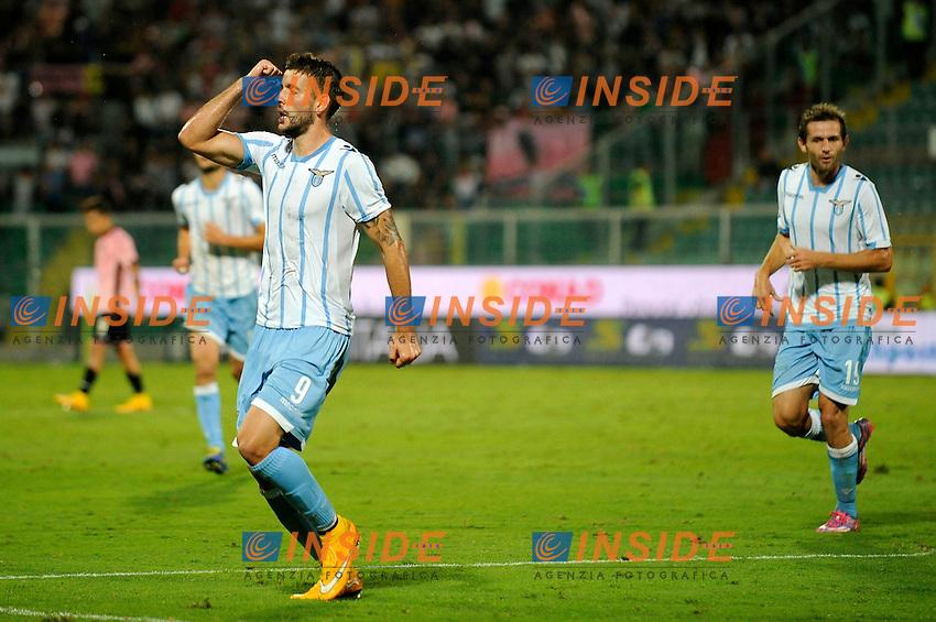 Esultanza Filip Djordjevic dopo il gol. Goal celebration <br /> Palermo 29-09-2014 Stadio La Favorita, Football Calcio Serie A Palermo - Lazio. Foto Insidefoto